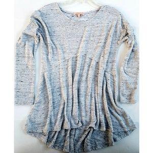 GIBSON LATIMER Gray Sweater blouse